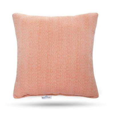 Outdura Blink Coral Square Outdoor Throw Pillow (2-Pack)