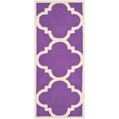 cambridge purpleivory 2 ft 6 in x 12 ft runner