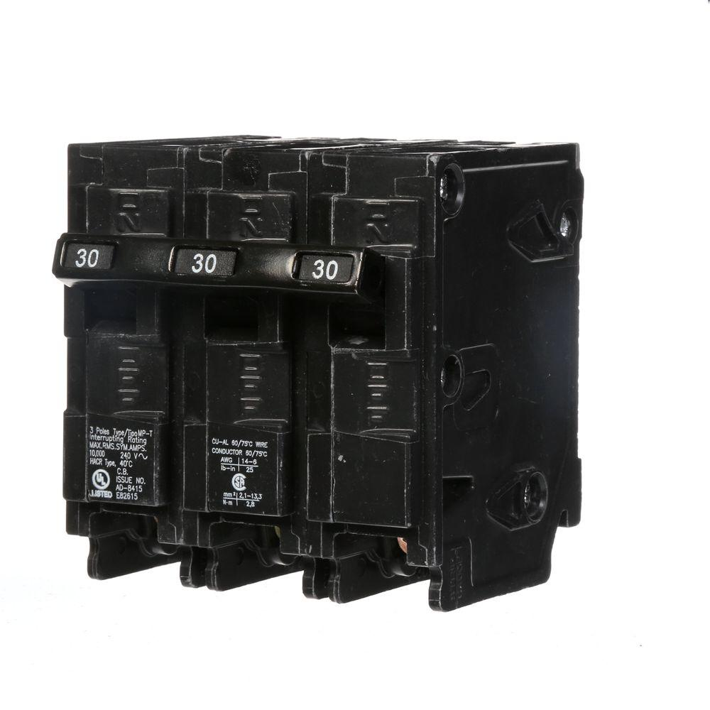 Murray 30 Amp Three-Pole Type MP Circuit Breaker
