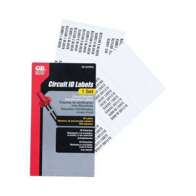 Wire Marker Booklet Circuit Breaker Markers (Case of 10)