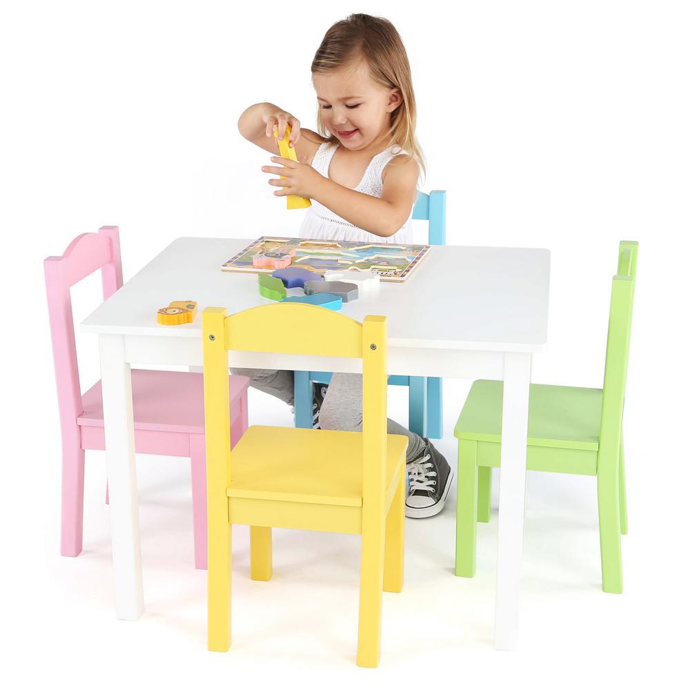 5257fff87f7 Internet  301917066. +3. Tot Tutors Pastel 5-Piece Kids Table and Chair Set