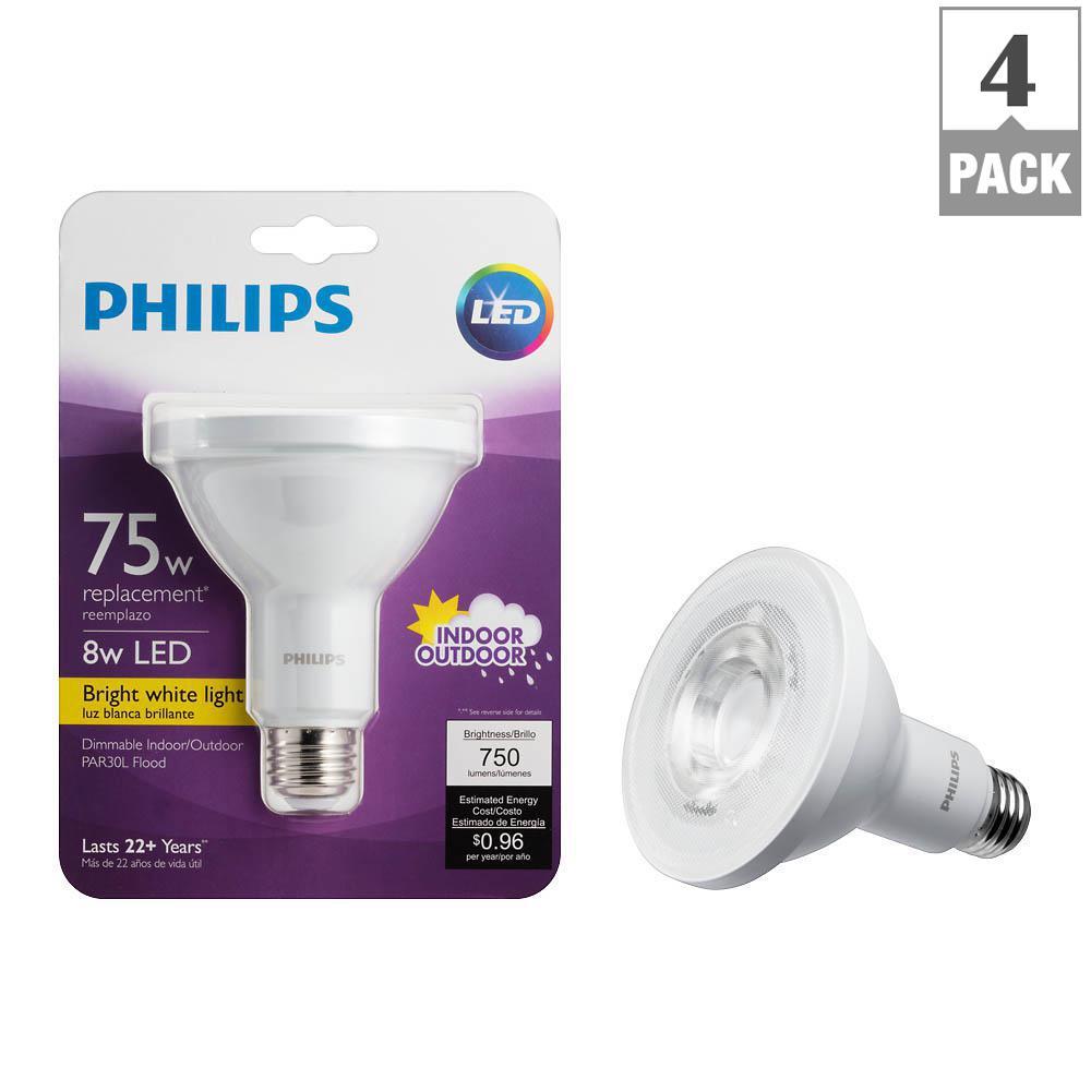 Philips 75 watt equivalent par30l indooroutdoor household led light philips 75 watt equivalent par30l indooroutdoor household led light bulb bright white workwithnaturefo
