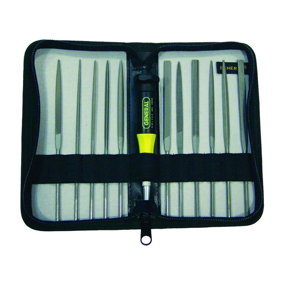 GeneralTools General Tools Swiss Pattern Needle File Set (12-Piece)