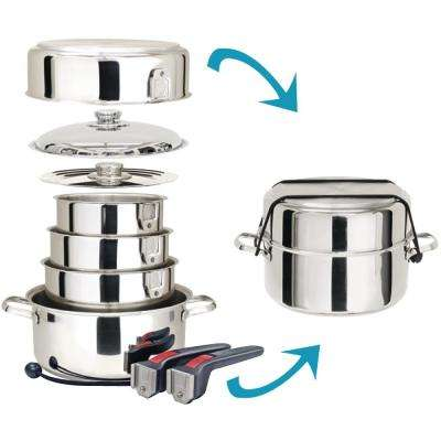 Stainless Steel 10-Piece Nesting Cookware