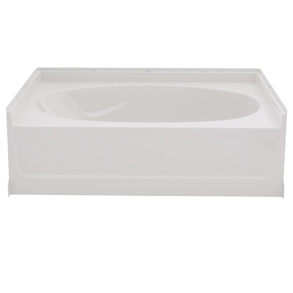 Sterling ensemble 5 ft right drain rectangular alcove for Deep soaking tub alcove