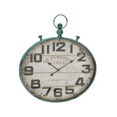 36 in. Old World Vintage Round Wall Clock