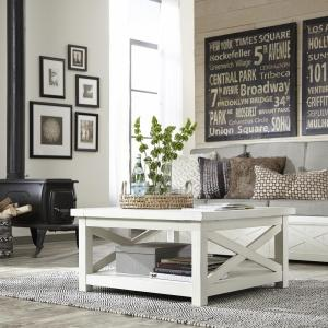 Home Styles Seaside Lodge Hand Rubbed White Coffee Table 5523 21 The Depot