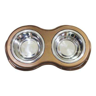 Snap-in Stainless Steel Double Pet Diner Bowl