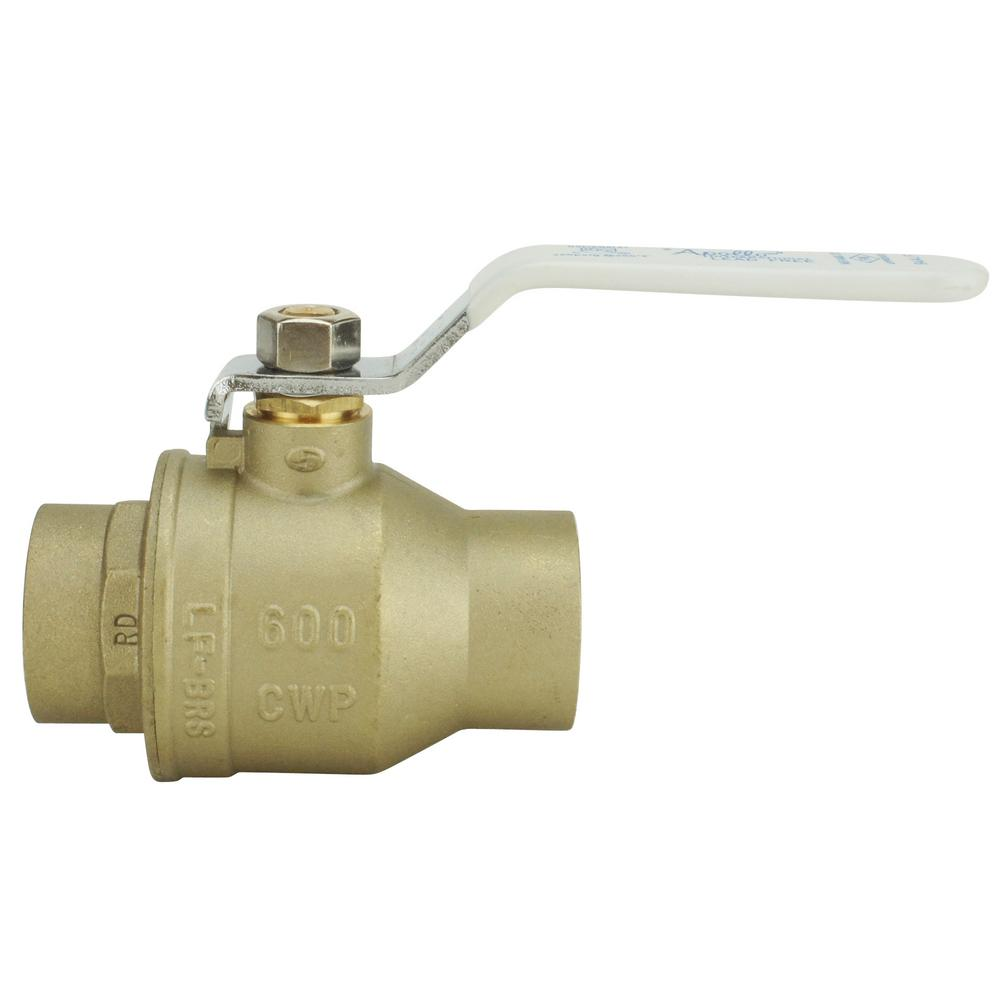 1-1/2 in. Lead Free Brass SWT x SWT Ball Valve