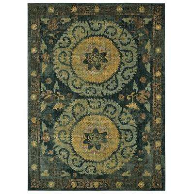 Suzani Tapertry Indigo by Patina Vie 8 ft. x 10 ft. Area Rug