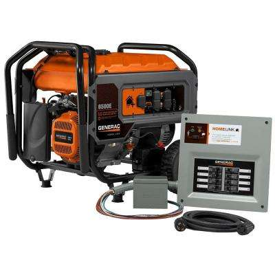 Home Link 6500E 6,500-Watt Gasoline Powered Portable Generator 389cc with Upgradeable MTS