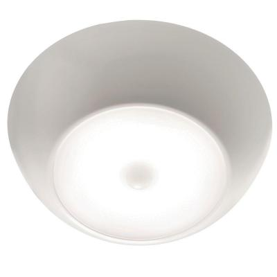 Indoor/ Outdoor 300 Lumen UltraBright Battery Powered Motion Activated Ceiling Light, White