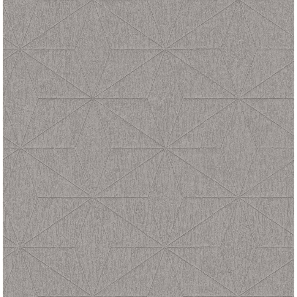Bernice Taupe Geometric Wallpaper Sample
