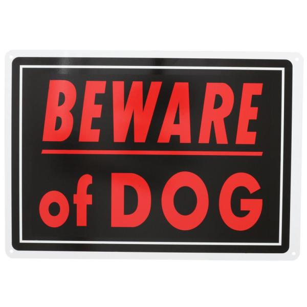 10 in. x 14 in. Aluminum Beware of Dog Sign