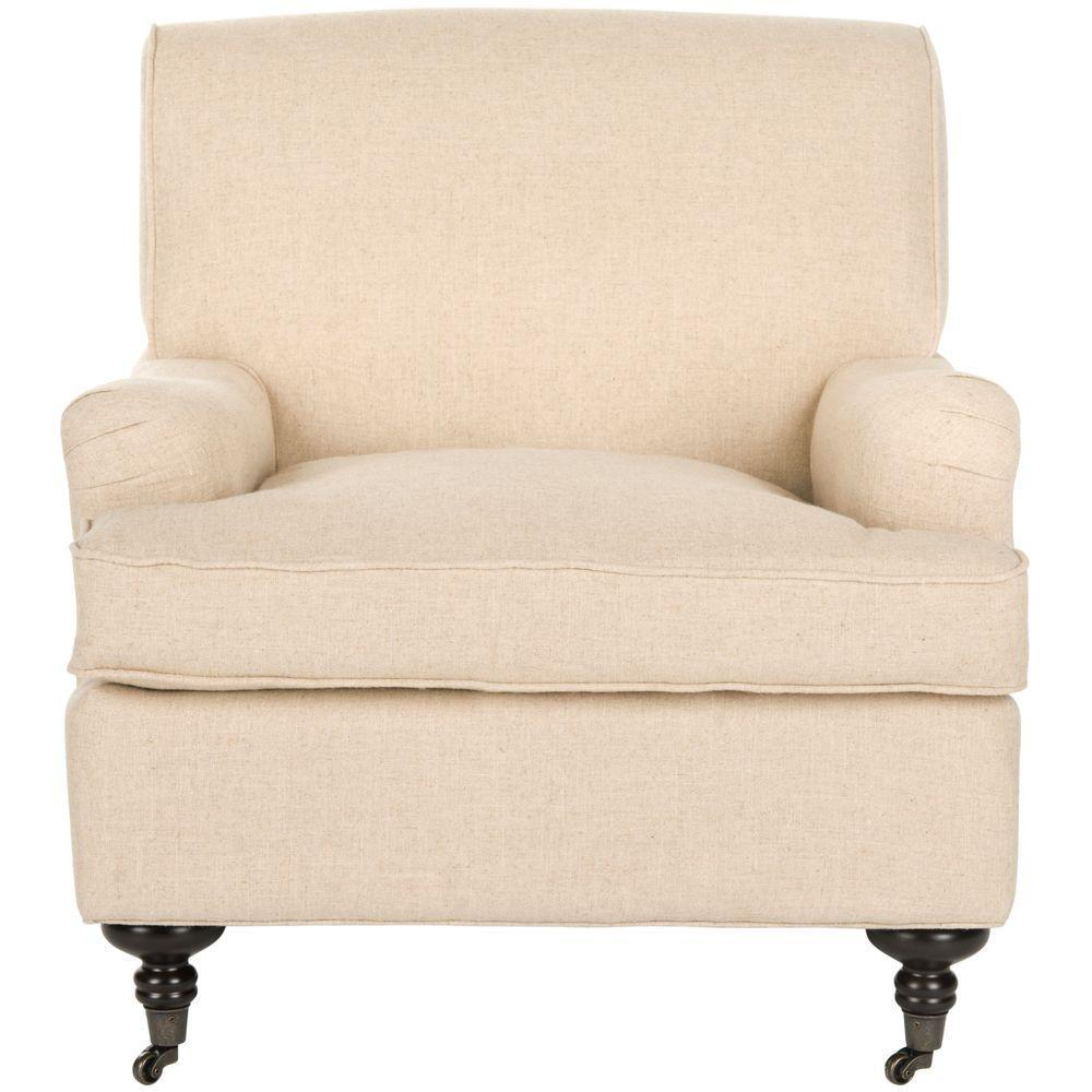 Chloe Hemp/Espresso Linen Club Arm Chair