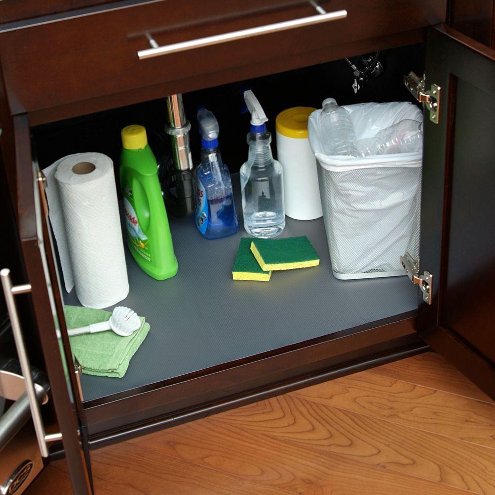 Con Tact Graphite Sink Shelf Liner Ktch Cusm02 06 The