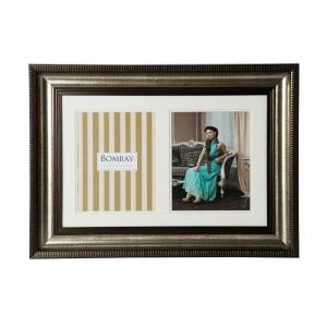 Bombay 26 inch x 19 inch Bronze 2-Opening Collage Picture Frame by Bombay