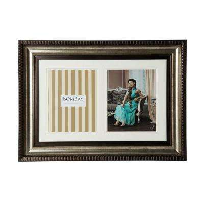 26 in. x 19 in. Bronze 2-Opening Collage Picture Frame