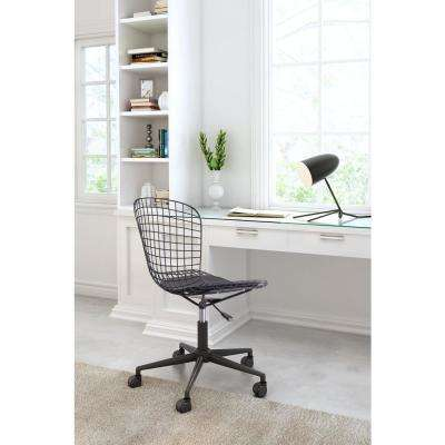 Wire Black Office Chair