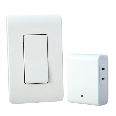 8-Amp Indoor Plug-In Wireless Wall Switch Light Control, White