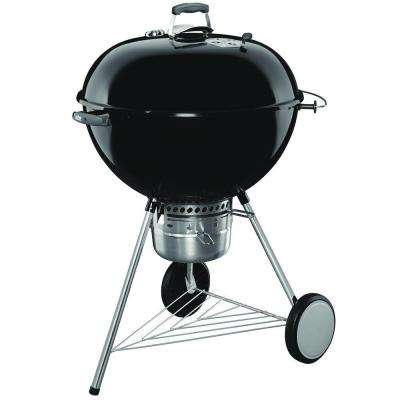 26 in. Original Kettle Premium Charcoal Grill in Black with Built-In Thermometer