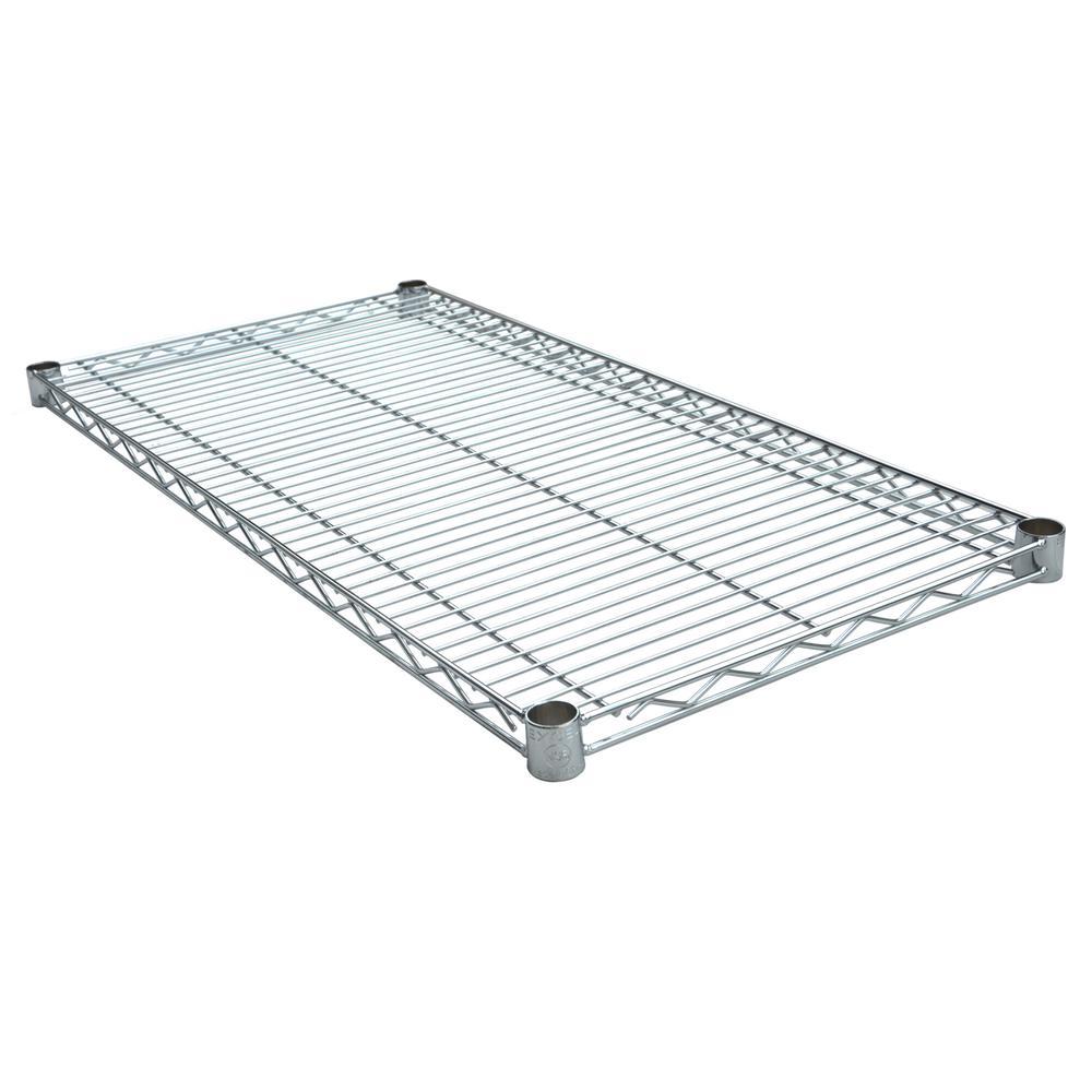 36 in. W x 18 in. D Individual NSF Wire Shelf, Chrome