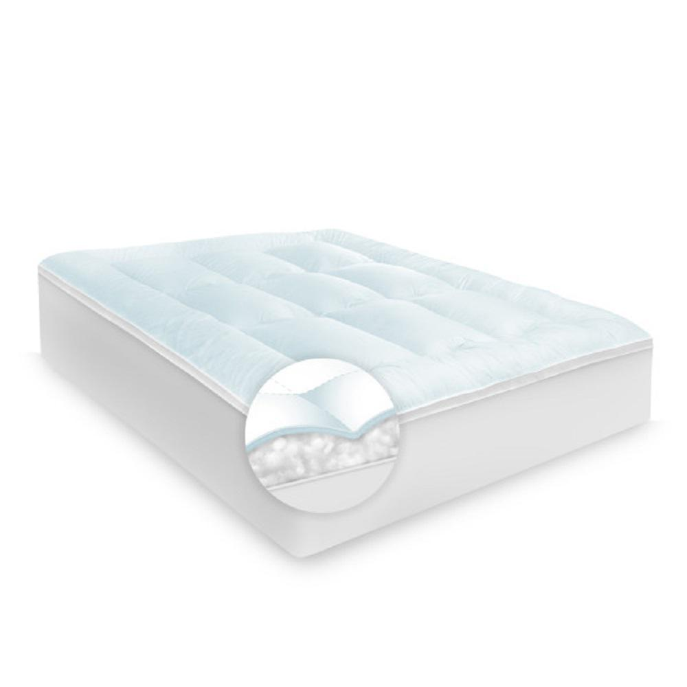 Memory Cloud 3.5 in. Twin Gel-Infused Memory Foam and Fiber Topper