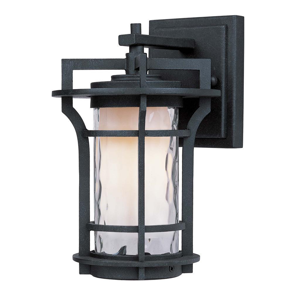 Oakville 6.25 in. W 1-Light Black Oxide Outdoor Wall Lantern Sconce