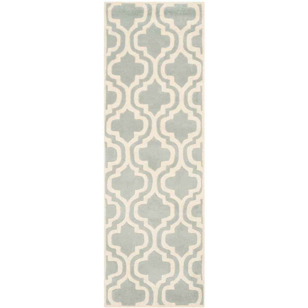 Safavieh Chatham Grey/Ivory 2 ft. 3 in. x 5 ft. Runner