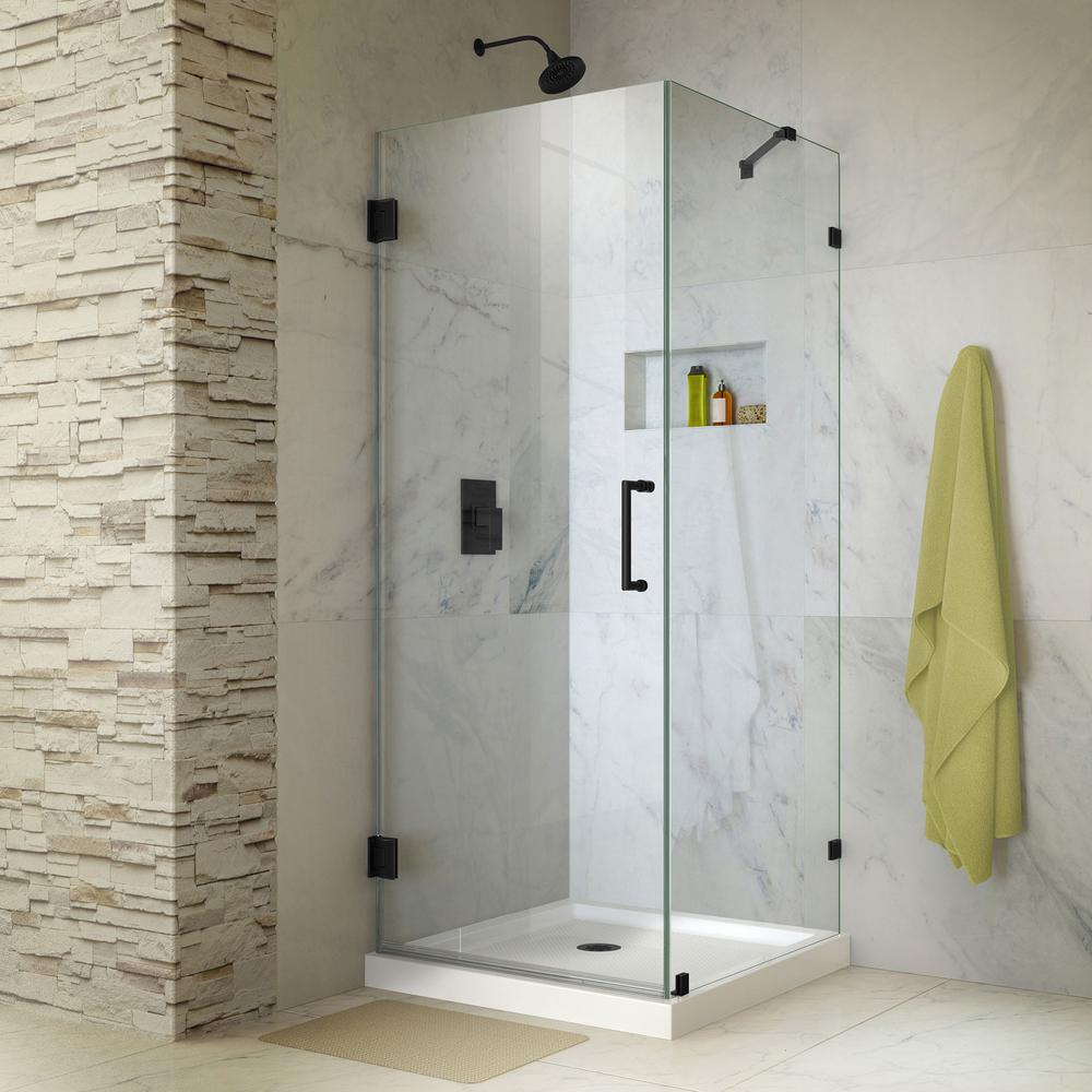 Black - Corner Shower Doors - Shower Doors - The Home Depot