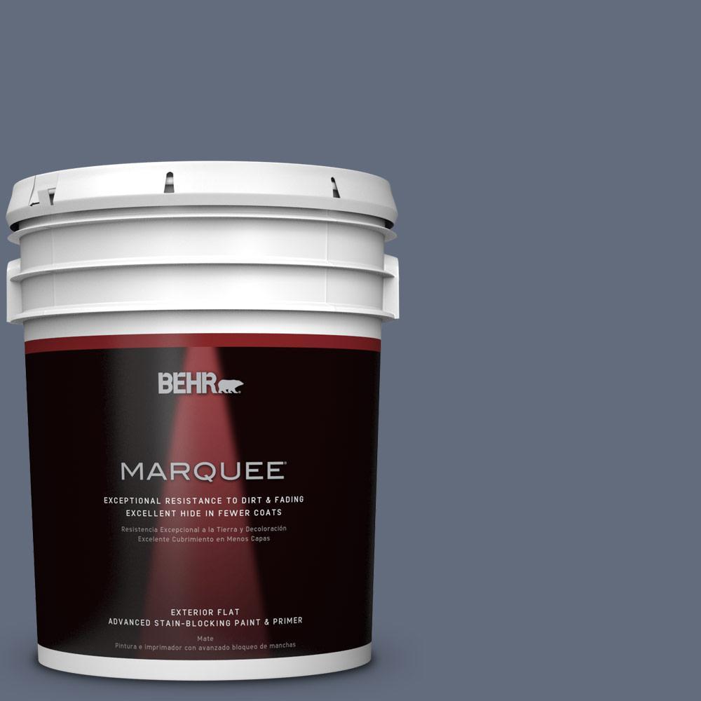 BEHR MARQUEE 5-gal. #BNC-29 Dark Room Flat Exterior Paint