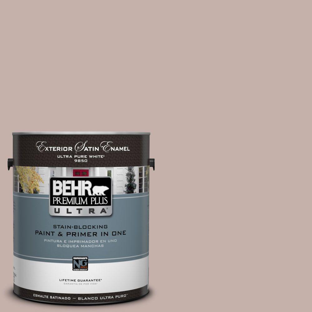 BEHR Premium Plus Ultra 1-Gal. #UL110-12 Mauvette Satin Enamel Exterior Paint-DISCONTINUED