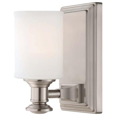 Harbour Point 1-Light Brushed Nickel Bath Light