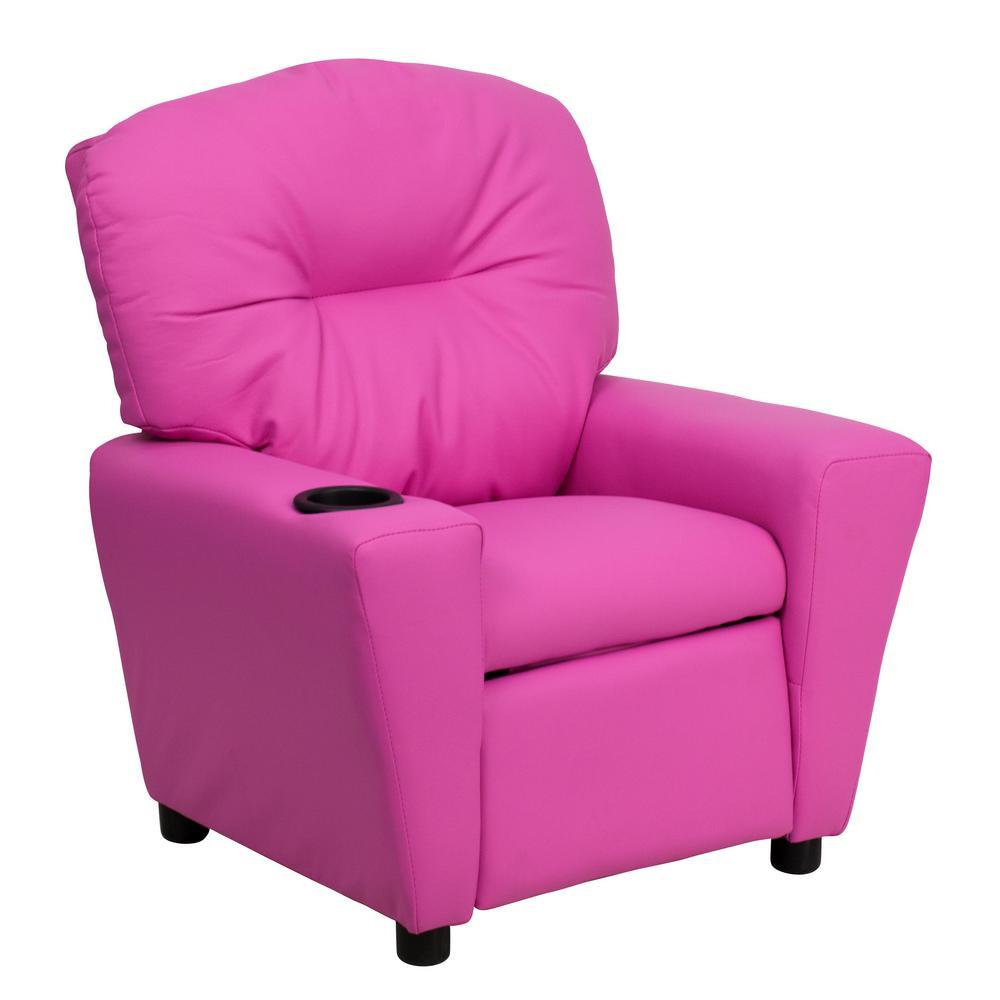 Flash Furniture Contemporary Purple Vinyl Kids Recliner