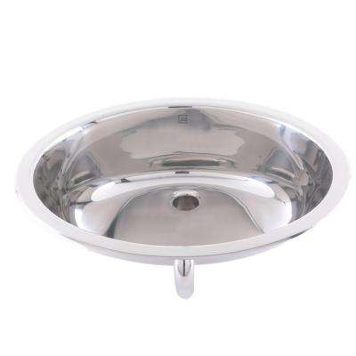 Simply Stainless Drop-In Bathroom Sink in Stainless Steel