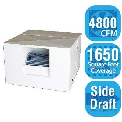 4,800 CFM Side-Draft Rigid Roof/Side Evaporative Cooler for 18 in. Ducts 1,650 sq. ft. (Motor Not Included)