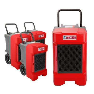 225-Pint Commercial Dehumidifier for Water Damage Restoration Mold Remediation in Red
