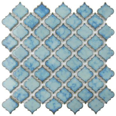 Hudson Tangier Marine 12 in. x 12 in. Porcelain Mosaic Tile (10.96 sq. ft. / Case)