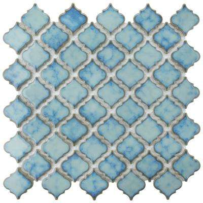 Hudson Tangier Marine 12-3/8 in. x 12-1/2 in. x 5 mm Porcelain Mosaic Tile