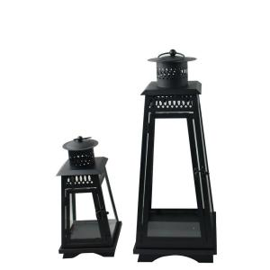 Outdoor Metal Contemporary Lanterns (2-Pack)