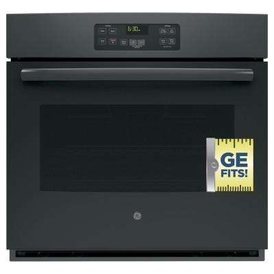 30 in. Single Electric Wall Oven Standard Cleaning with Steam in Black