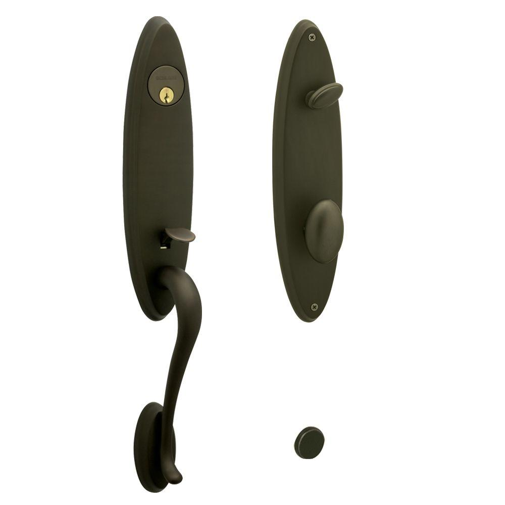 Schlage Venice Handleset with Danbury Interior Knob in Oil Rubbed Bronze-DISCONTINUED
