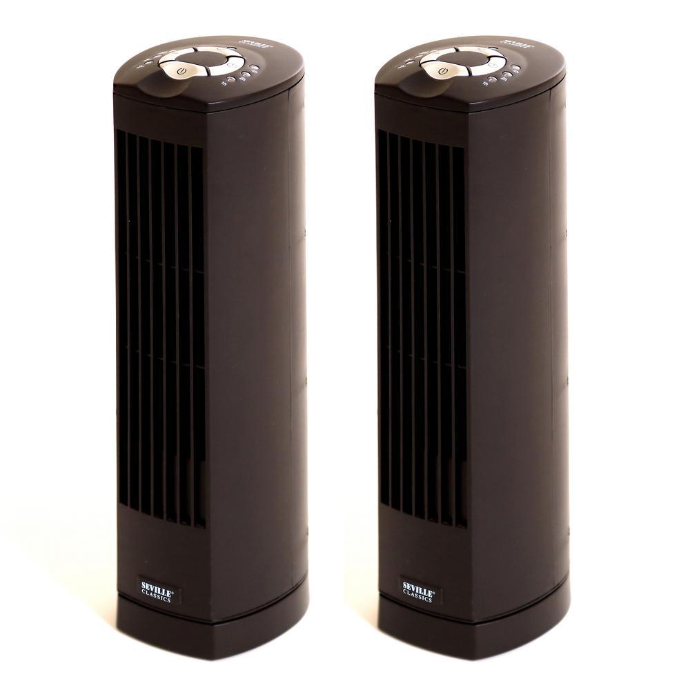 UltraSlimline 17 in. Oscillating Tower Fan (2-Pack)