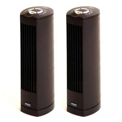 UltraSlimline 17 in. Oscillating Tower Fan (2-Pack)