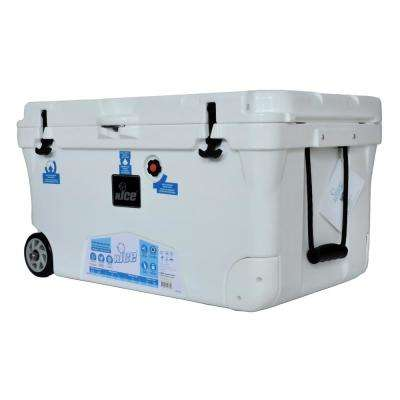 110 qt. White Wheeled Cooler