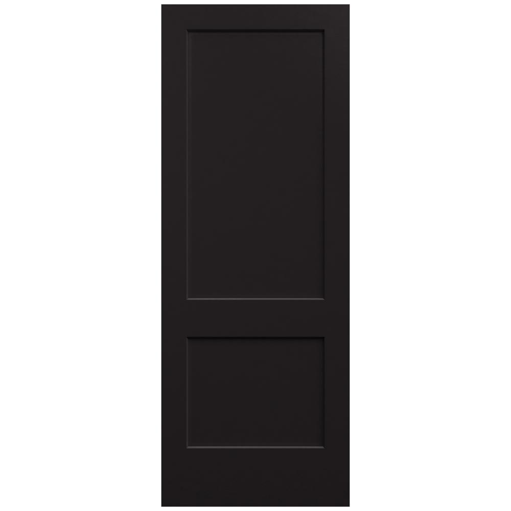 Perfect JELD WEN 36 In. X 96 In. Monroe Black Painted Smooth Solid Core