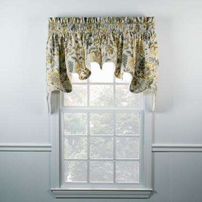 Regency 30 in. L Cotton Lined Duchess Valance in Grey