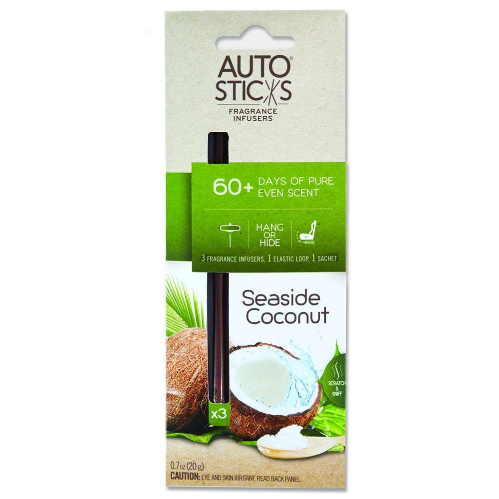 AutoSticks Air Freshener Seaside Coconut (3-Pack) by AutoSticks