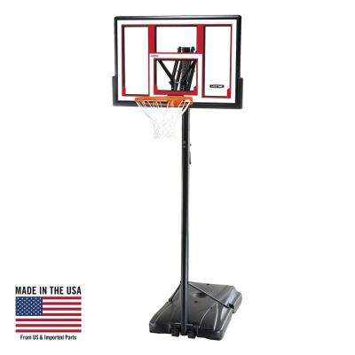48 in. Polycarbonate Adjustable Portable Basketball Hoop
