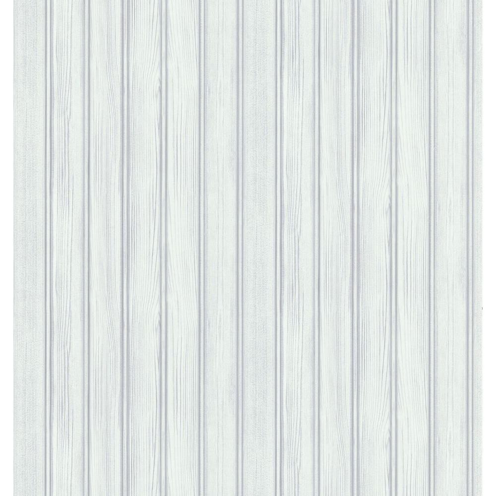 Brewster Northwoods Lodge White Beadboard Wallpaper Sample
